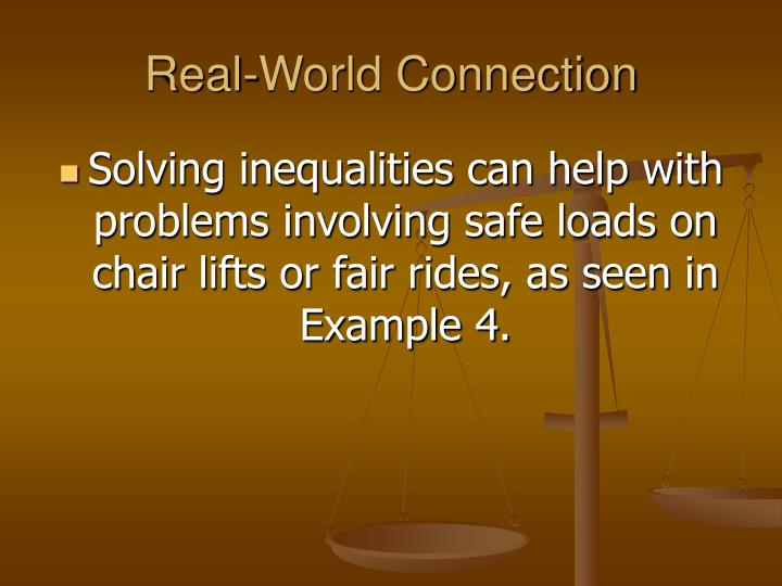 Real-World Connection