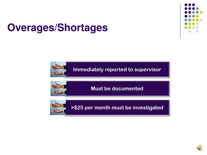 Overages/Shortages