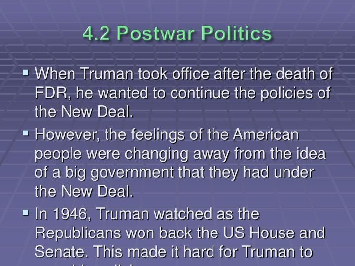 4.2 Postwar Politics