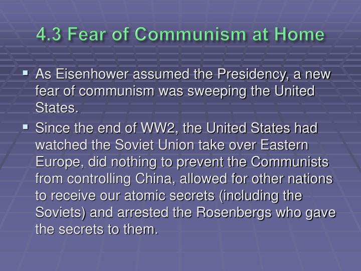 4.3 Fear of Communism at Home