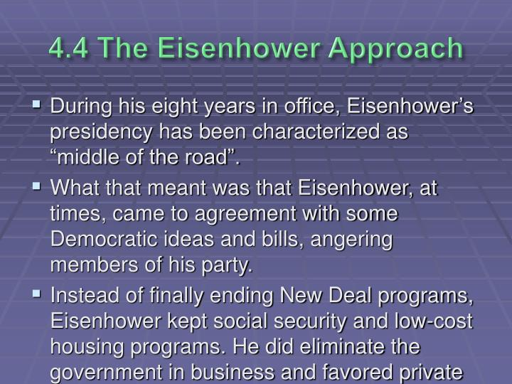 4.4 The Eisenhower Approach