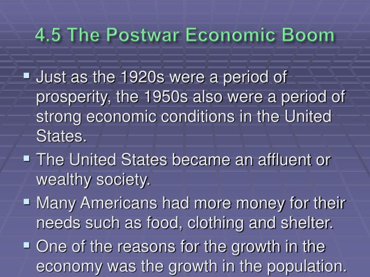4.5 The Postwar Economic Boom