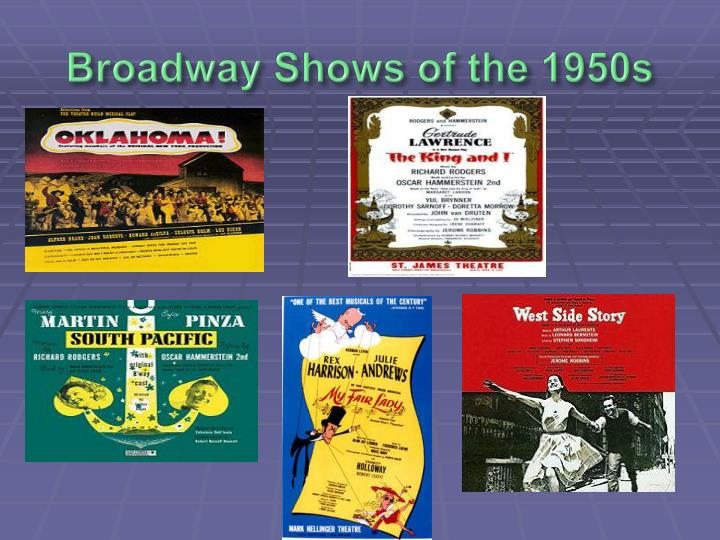 Broadway Shows of the 1950s