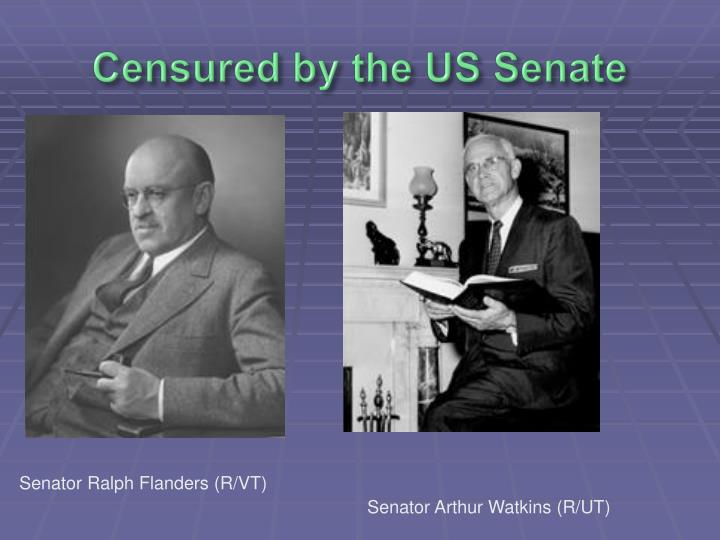 Censured by the US Senate