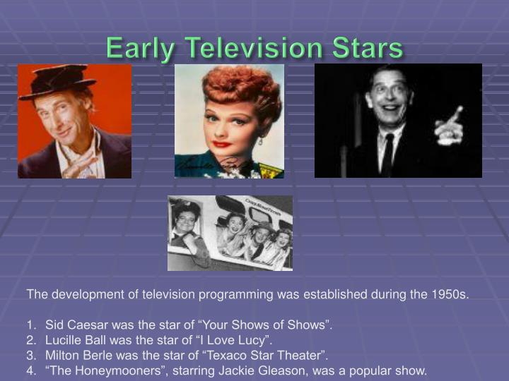 Early Television Stars