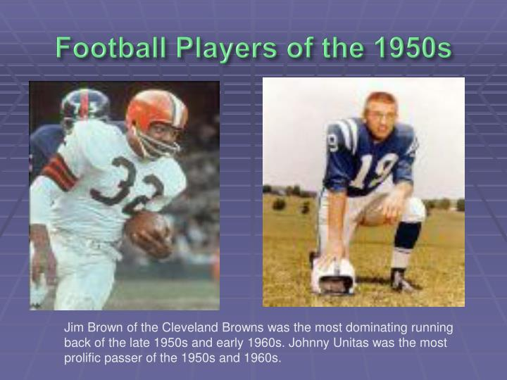Football Players of the 1950s