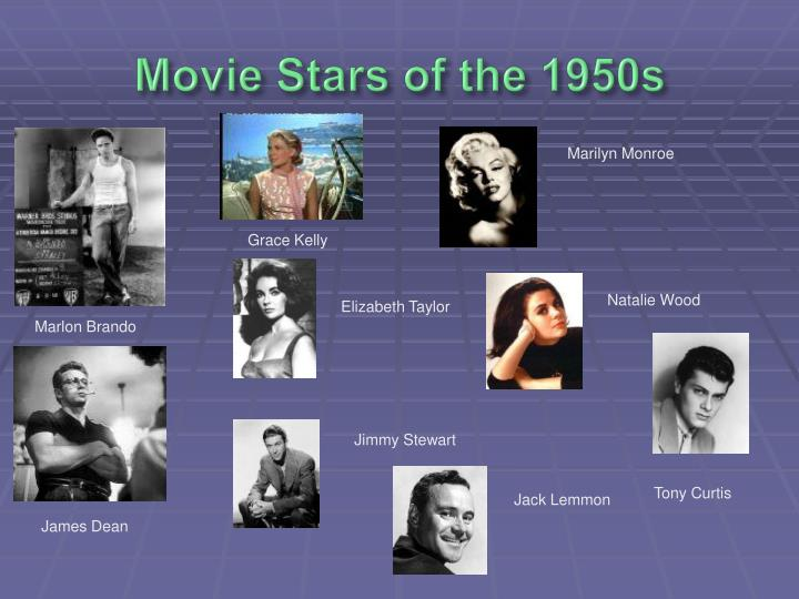 Movie Stars of the 1950s