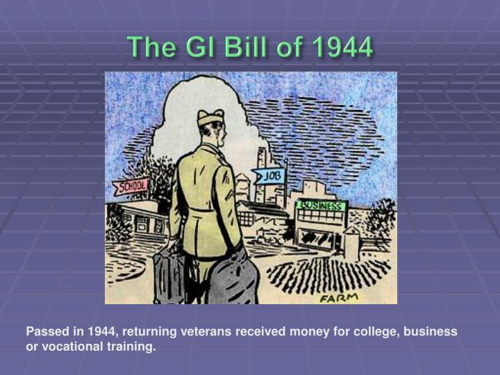 The GI Bill of 1944
