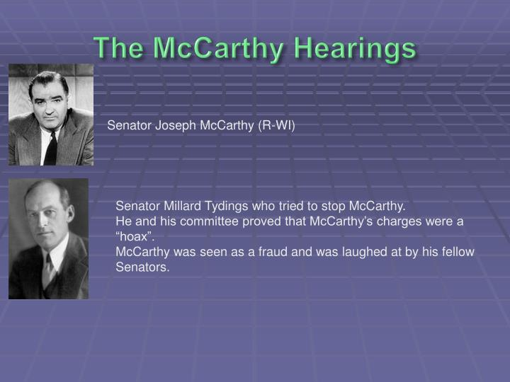 The McCarthy Hearings