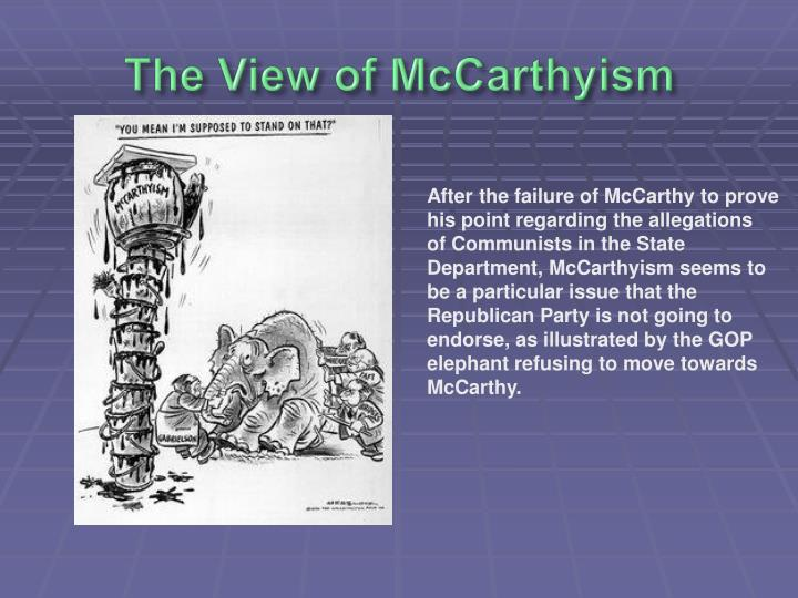 The View of McCarthyism