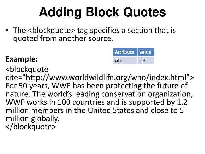 Adding Block