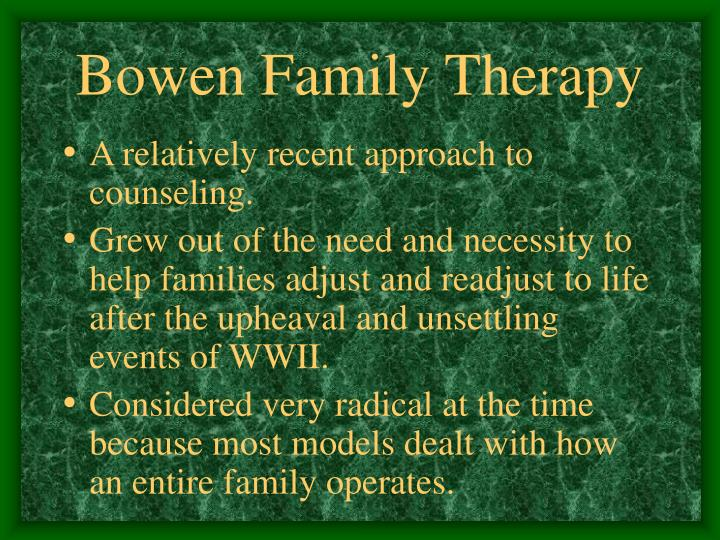 Bowen family therapy