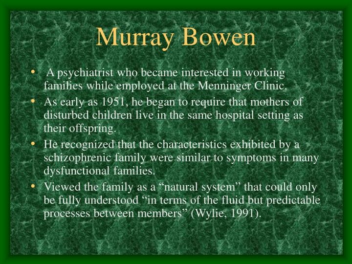 Murray bowen