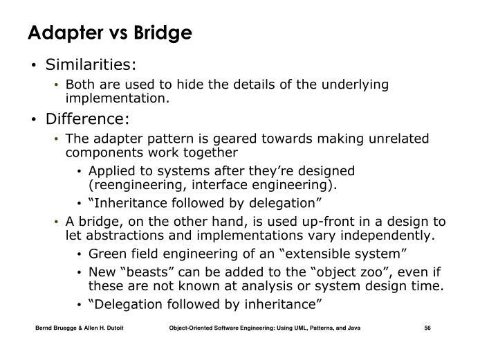Adapter vs Bridge