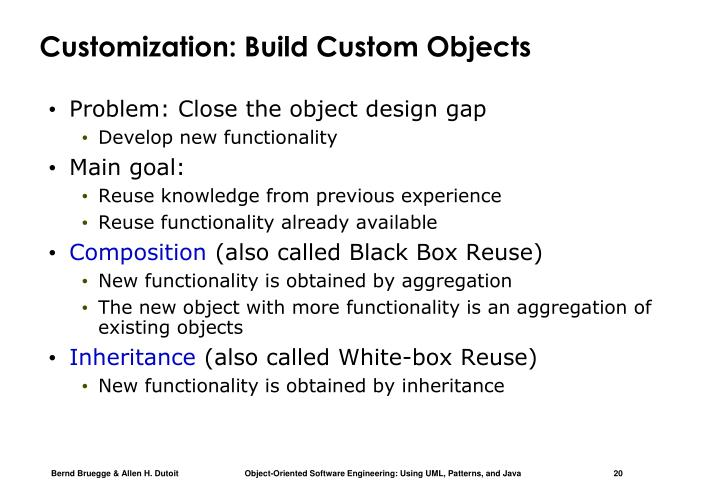 Customization: Build Custom Objects
