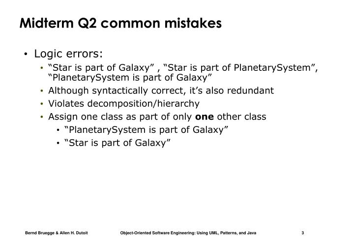 Midterm Q2 common mistakes