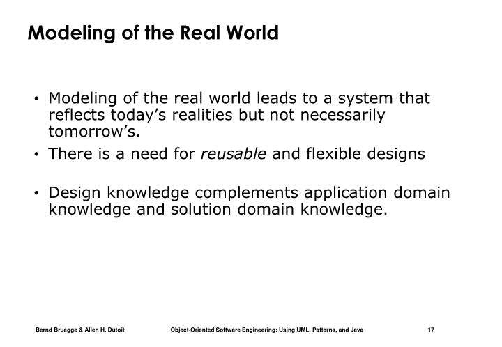 Modeling of the Real World