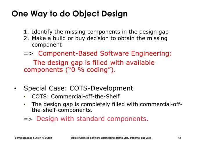 One Way to do Object Design