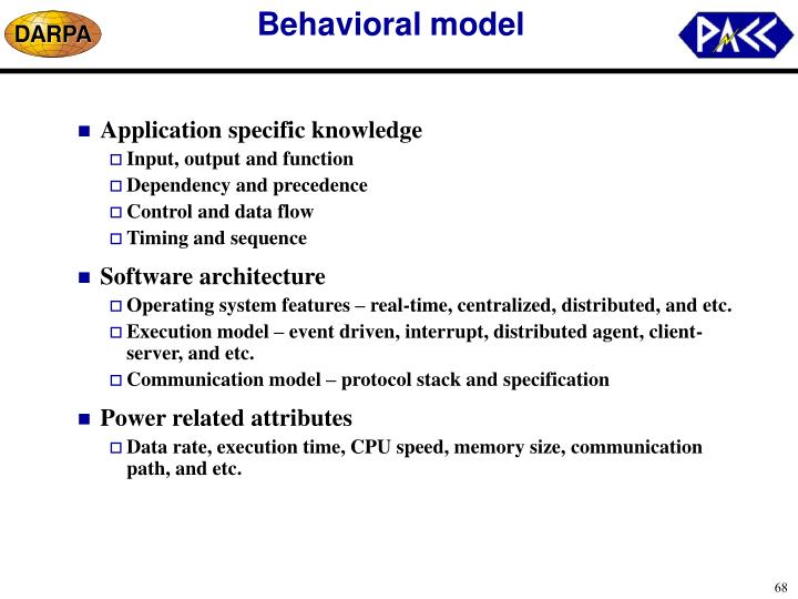 Behavioral model