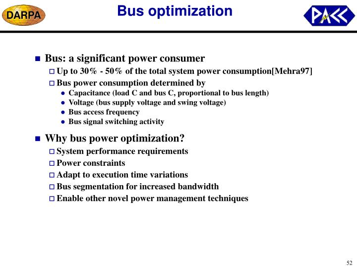 Bus optimization