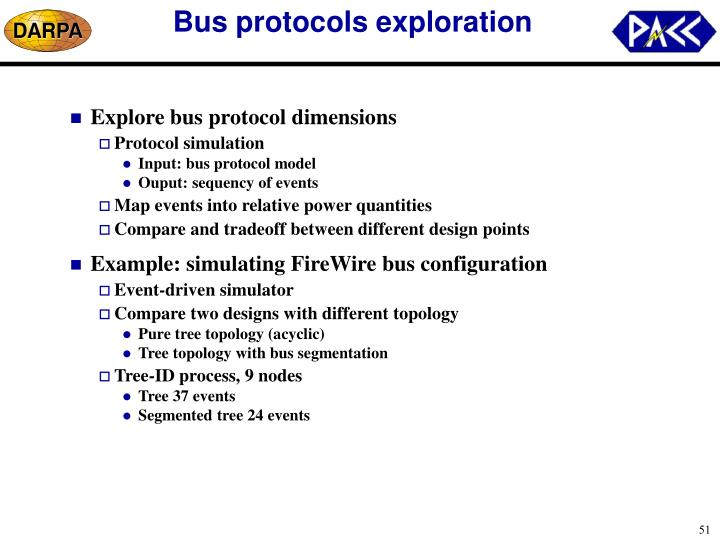 Bus protocols exploration