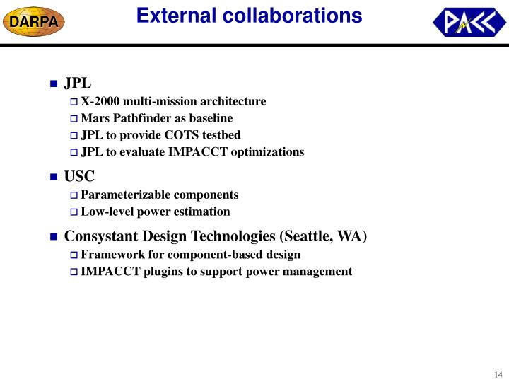 External collaborations