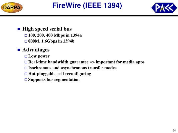 FireWire (IEEE 1394)