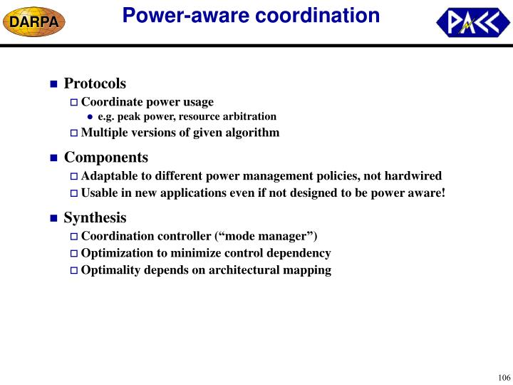 Power-aware coordination