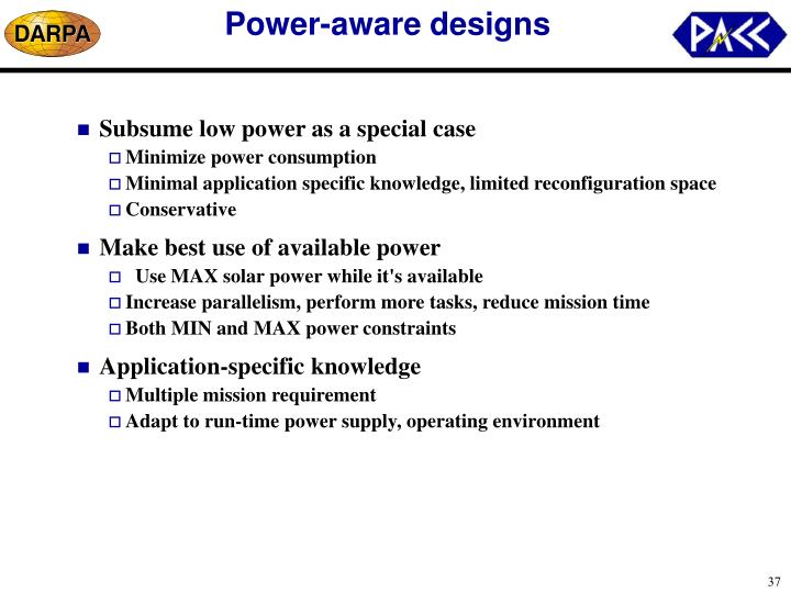 Power-aware designs