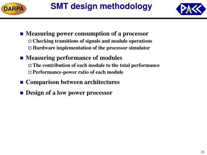 SMT design methodology