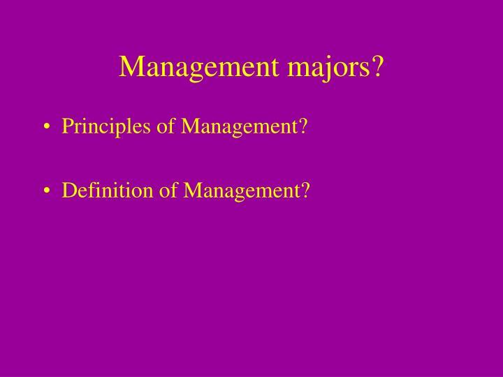 Management majors?