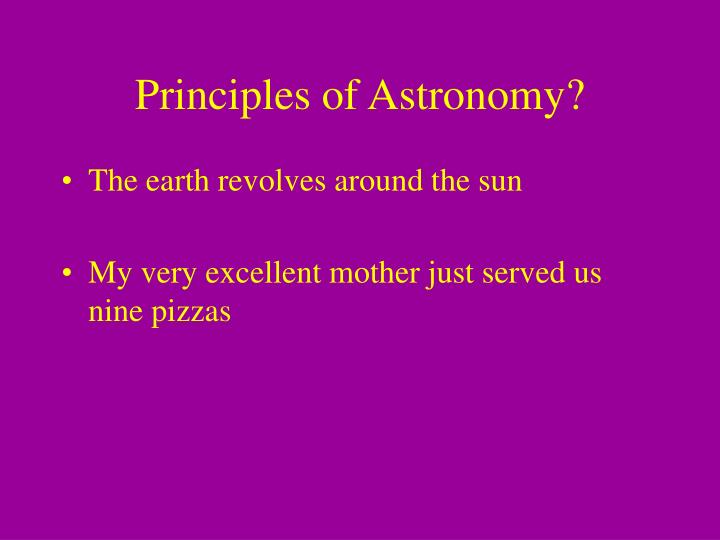 Principles of Astronomy?