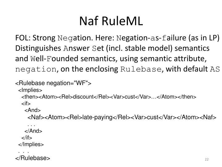 Naf RuleML