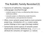 the ruleml family revisited i