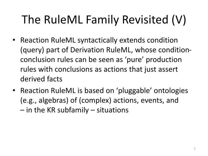 The RuleML Family Revisited (V)