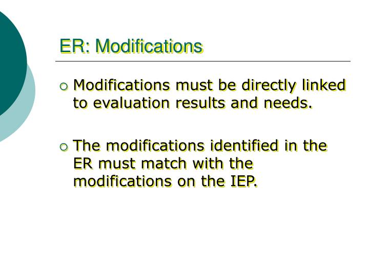 ER: Modifications