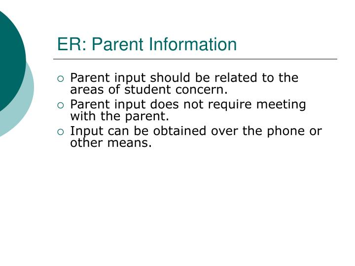 ER: Parent Information