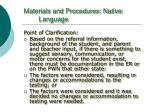 materials and procedures native language1