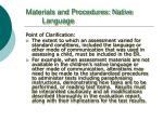 materials and procedures native language2