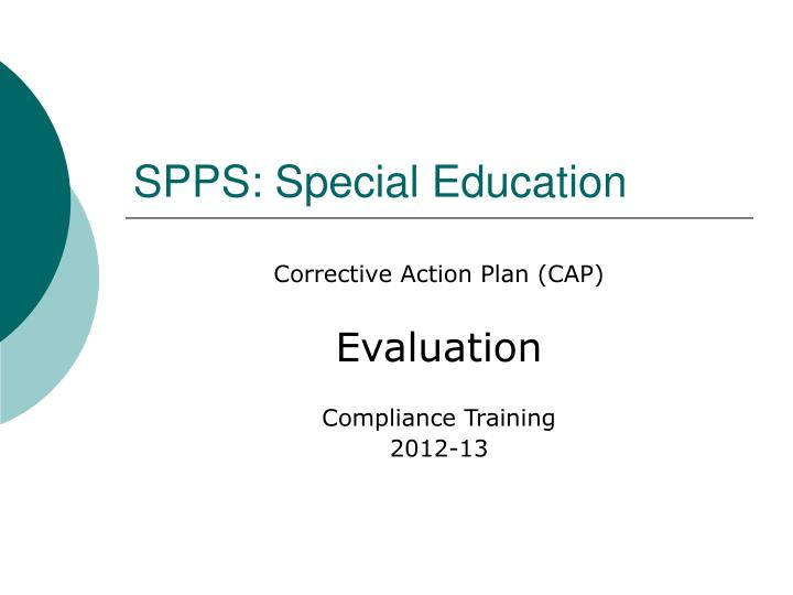 Spps special education