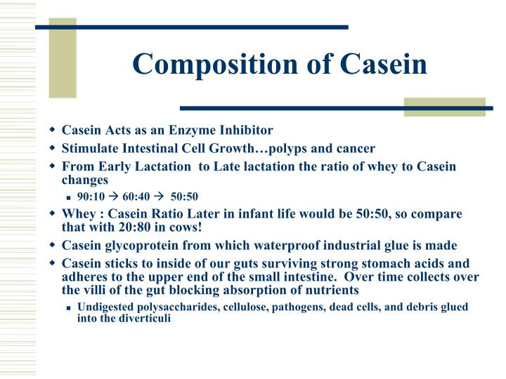 Composition of Casein