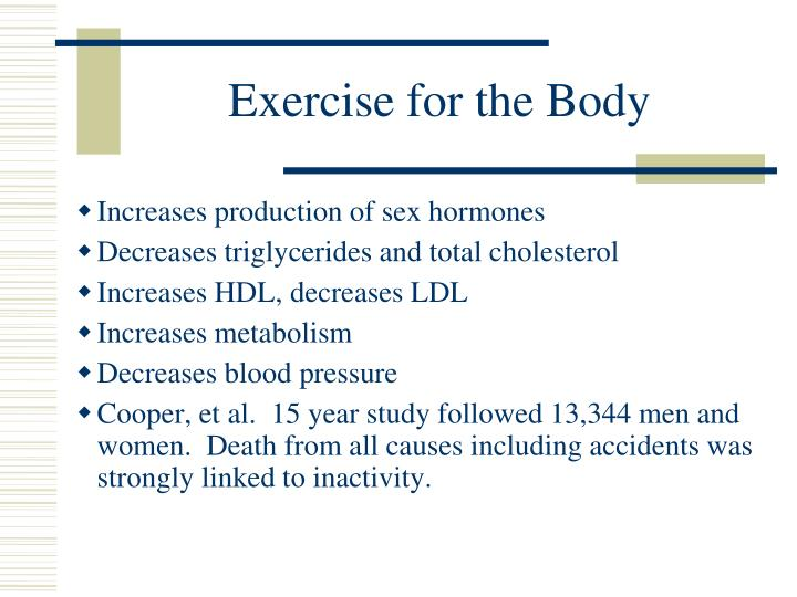 Exercise for the Body