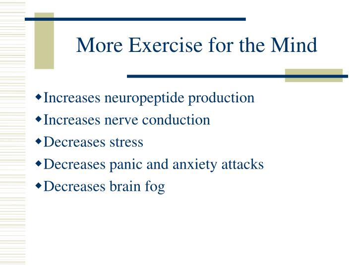 More Exercise for the Mind