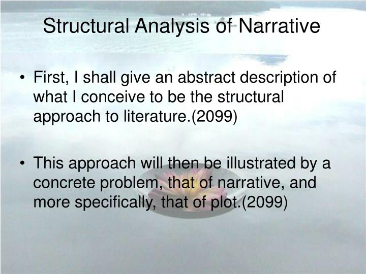 Structural analysis of narrative
