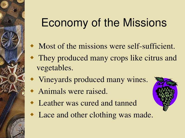 Economy of the Missions