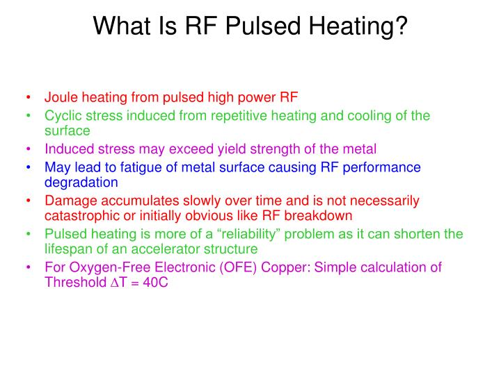 What Is RF Pulsed Heating?
