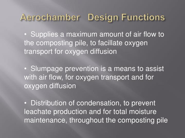 Aerochamber   Design Functions