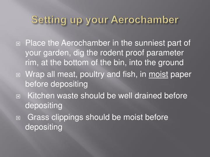 Setting up your Aerochamber