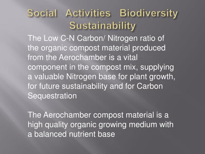 Social   Activities   Biodiversity   Sustainability
