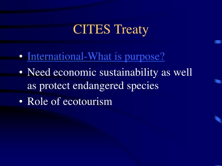 CITES Treaty